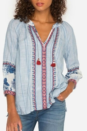 Johnny Was Boho-Mix Peasant Top - Product Mini Image