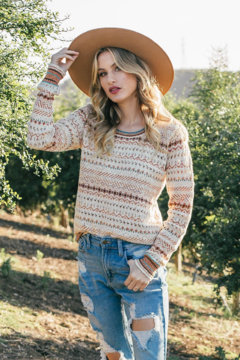 Lovestitch Boho Multi Crew - Product List Image