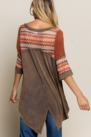 Pol Clothing BOHO Olive Brown Knit Top - Other