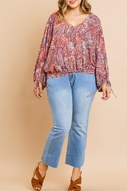 Umgee  Boho Paisley Top - Product Mini Image