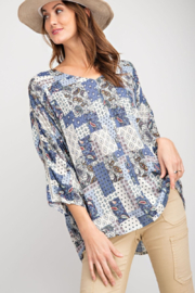 easel  Boho Patchwork Top - Product Mini Image