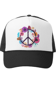 Grom Squad Boho Peace Trucker Hat - Product List Image
