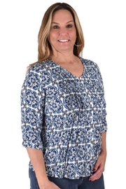 True Blue  Boho Peasant Blouse - Product Mini Image