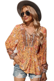 supreme fashion Boho Peasant Blouse - Product Mini Image