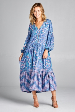 Shoptiques Product: Boho Print Maxi-Dress