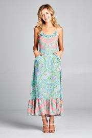 Racine Boho-Print Maxi Dress - Product Mini Image