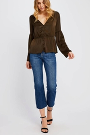 Gentle Fawn Boho Satin Top - Front cropped