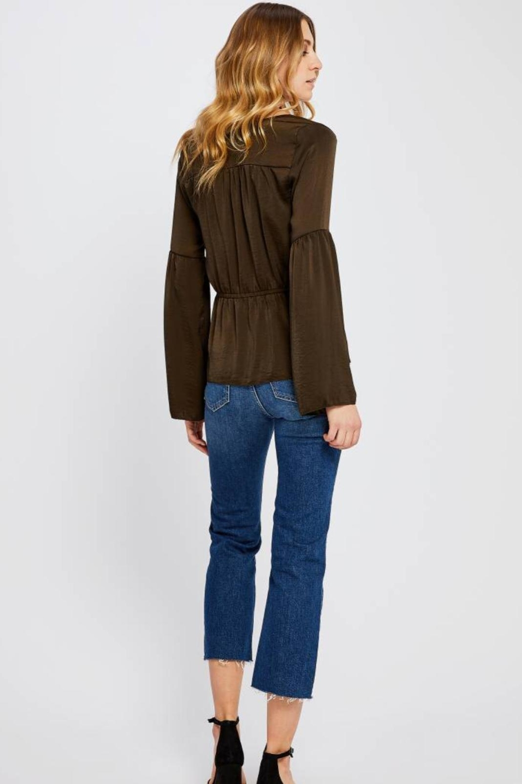 Gentle Fawn Boho Satin Top - Side Cropped Image