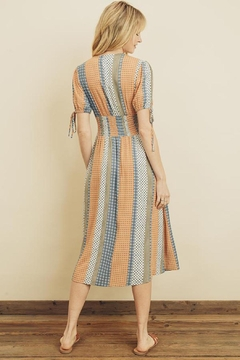 dress forum Boho Stripe Smocked Button Down Dress - Alternate List Image