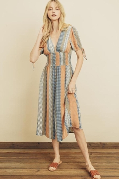 dress forum Boho Stripe Smocked Button Down Dress - Product List Image