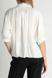 Current Air Boho tie front top - Front full body