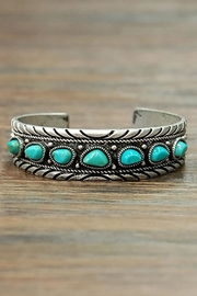 Wild Lilies Jewelry  Boho Turquoise Cuff - Front cropped