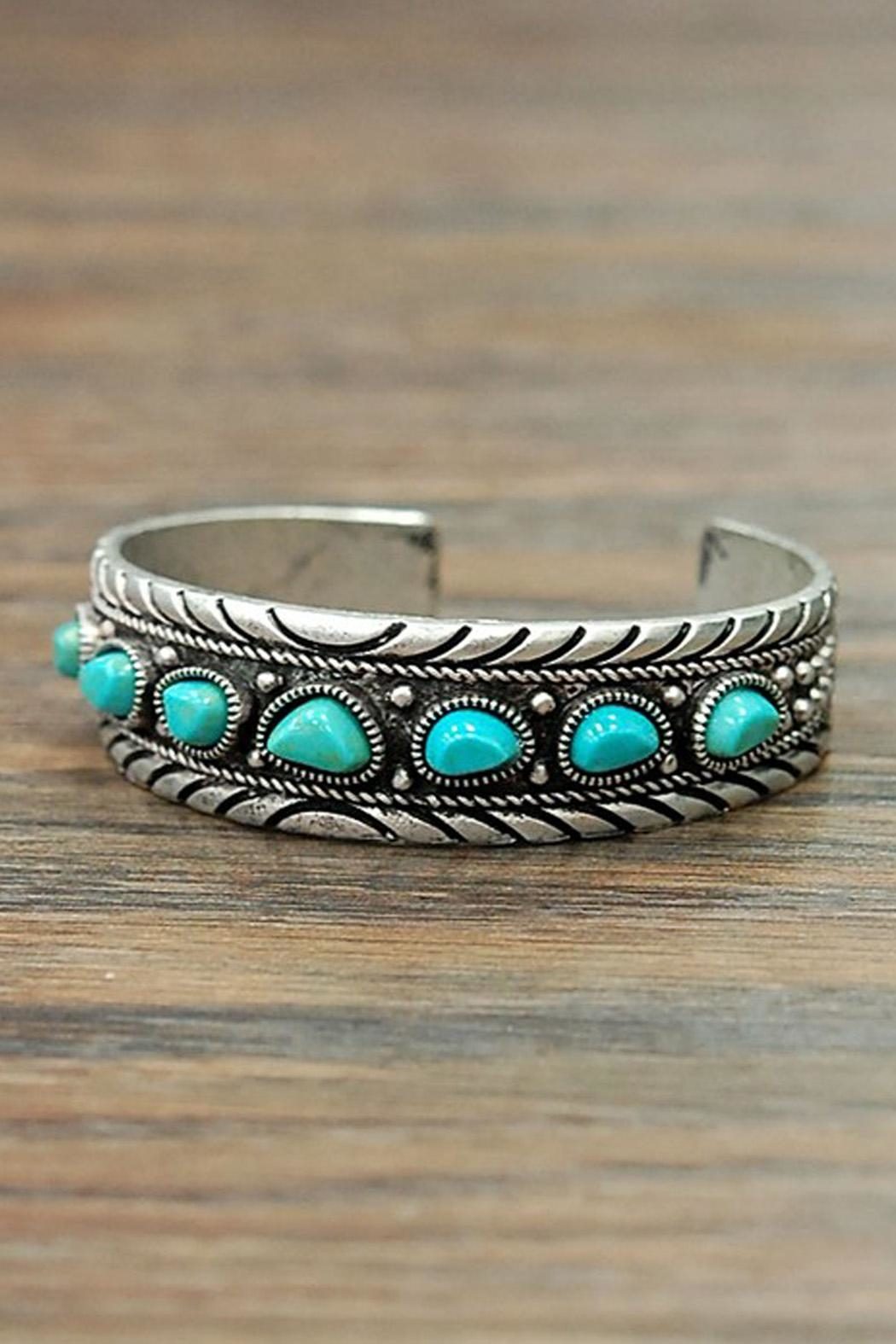 Wild Lilies Jewelry  Boho Turquoise Cuff - Side Cropped Image