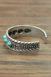 Wild Lilies Jewelry  Boho Turquoise Cuff - Front full body