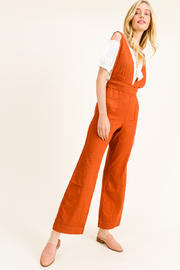 MONTREZ BOHO WIDE LEG OVERALLS - Front cropped