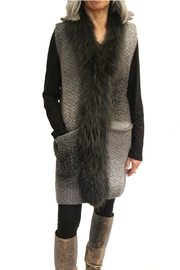Boho Chic Fur Trim Vest - Product Mini Image