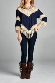 Boho Chic Paneled Crotchet Top - Product Mini Image