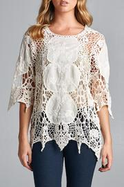 Boho Gal Crotchet Floral Top - Product Mini Image