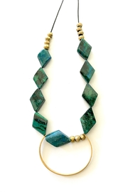Boho Gal Jael Turquoise Necklace - Front full body