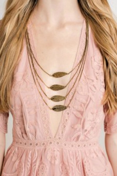 Shoptiques Product: Feather Charm Necklace