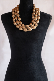 Handmade by CA artist Bold & Beautiful, Silky-Wrapped Necklace - Product Mini Image