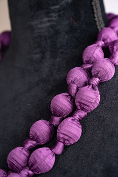 Handmade by CA artist Bold & Beautiful, Silky-Wrapped Necklace - Alternate List Image