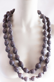 Handmade by CA artist Bold & Beautiful, Silky-Wrapped Necklace - Front full body