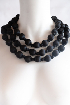 Handmade by CA artist Bold & Beautiful, Silky-Wrapped Necklace - Product List Image