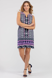 Tribal Femme Bold Print Dress With Pockets - Front cropped