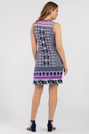 Tribal Femme Bold Print Dress With Pockets - Front full body