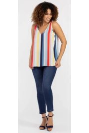 Tribal  Bold Stripe Sleeveless Blouse - Product Mini Image
