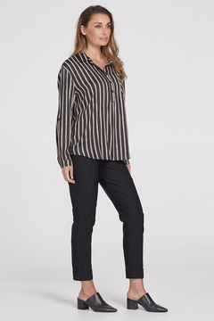 Tribal  Bold Striped High-Low Blouse - Product List Image