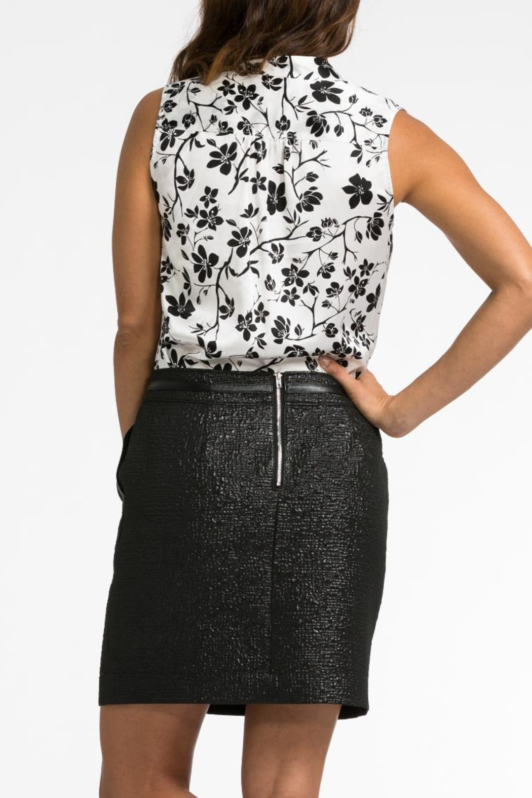 BOLDI Tie Front Blouse - Side Cropped Image