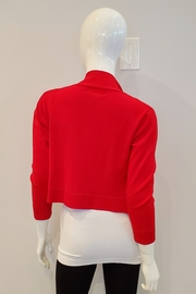 Frank Lyman Bolero Sweater Cardigan, Tomato Red - Front full body