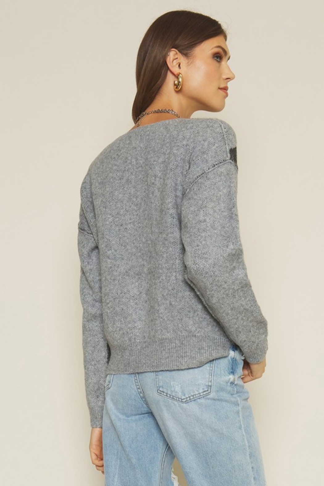 Dee Elly Bolt Sweater - Back Cropped Image