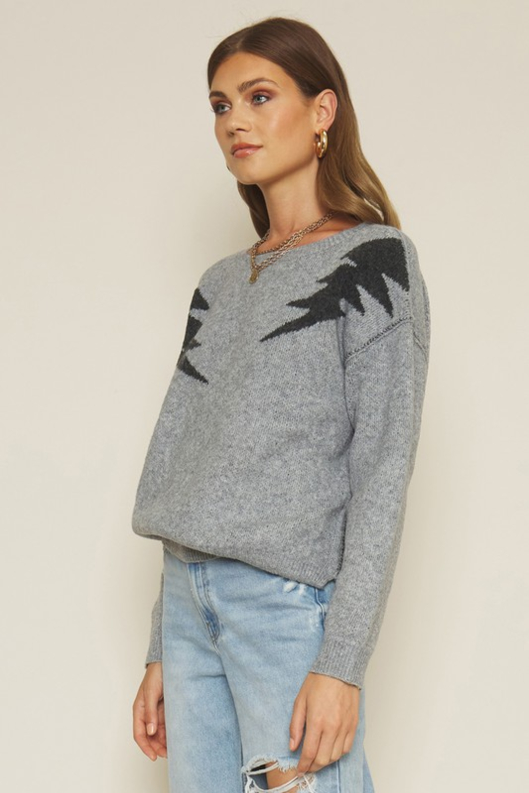 Dee Elly Bolt Sweater - Side Cropped Image