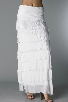 Shoptiques Product: Tiered Washable Silk Skirt