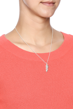 Boma Silver Feather Pendant Necklace - Alternate List Image