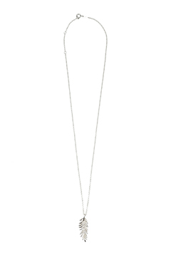 Boma Silver Feather Pendant Necklace - Product List Image