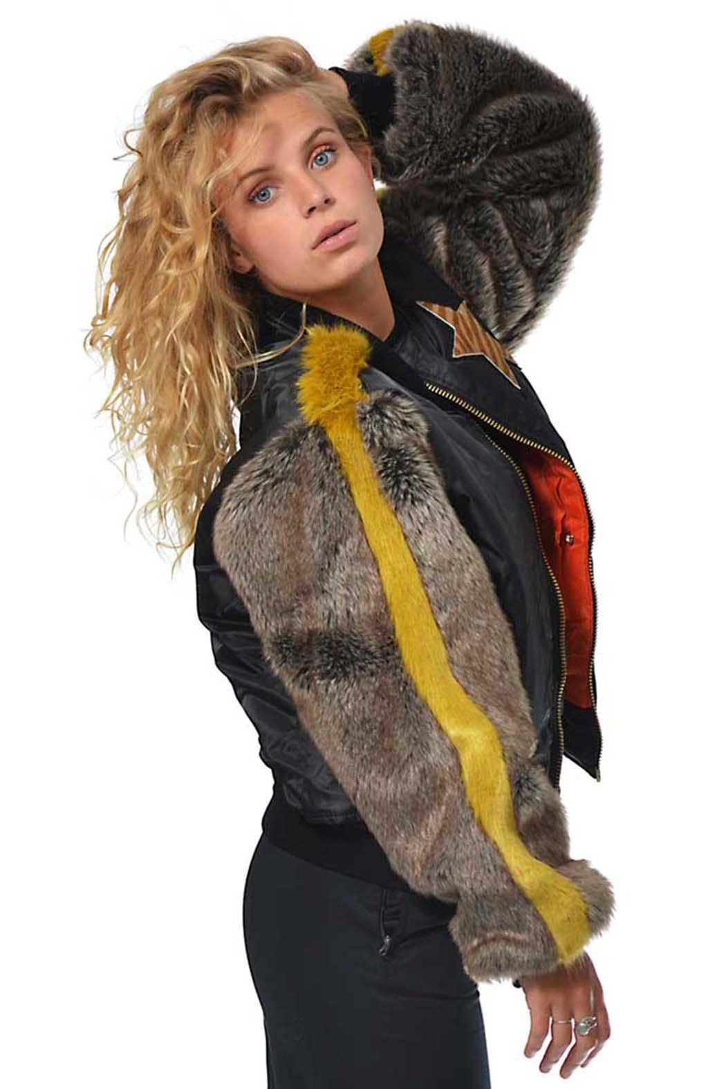 Gypsetters Bomber Fur Sleeves - Front Cropped Image