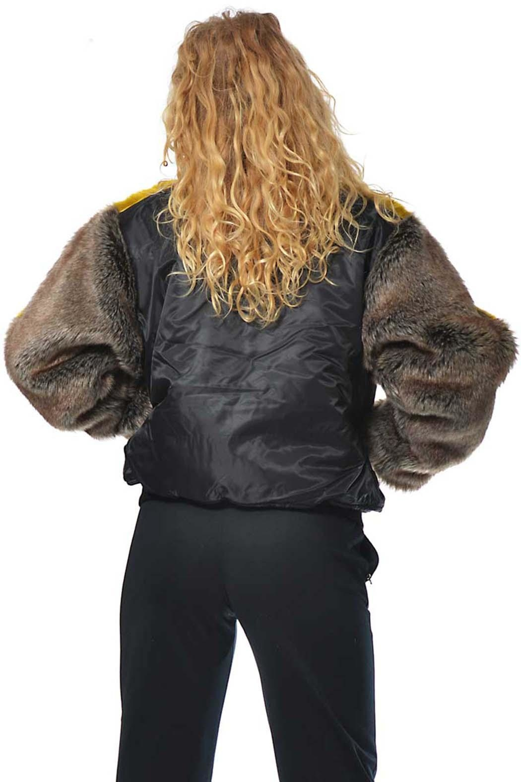 Gypsetters Bomber Fur Sleeves - Side Cropped Image