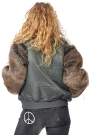 Gypsetters Bomber Fur Sleeves - Side cropped