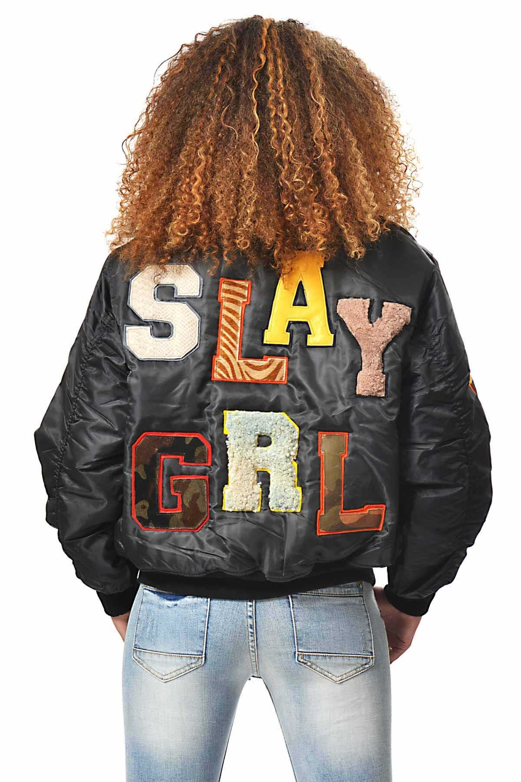 Gypsetters Bomber Slay Girl - Front Cropped Image