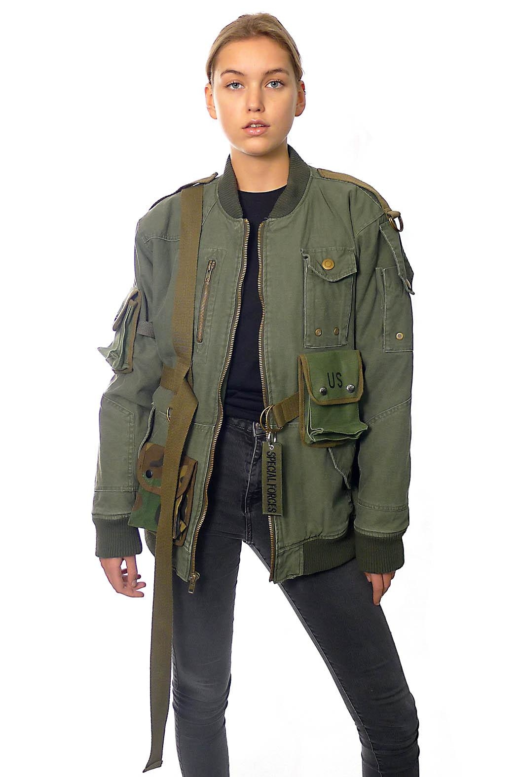 Gypsetters Bomber Strapped Up - Back Cropped Image