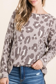 bombom Brushed Leopard Top - Product Mini Image