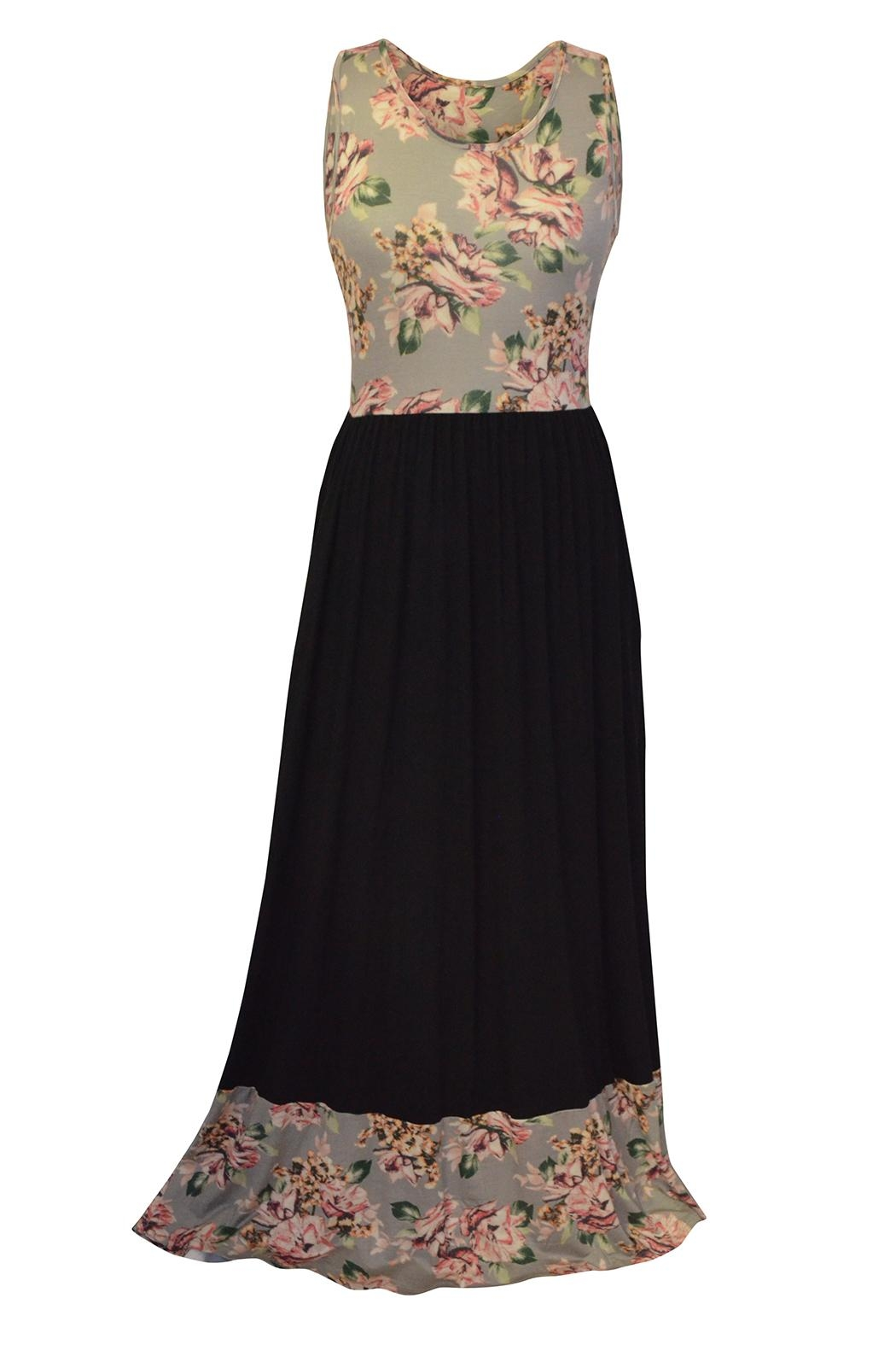 bombom Floral Maxi Dress - Front Cropped Image