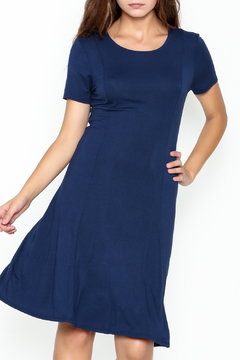 Shoptiques Product: Navy Short Sleeve Dress