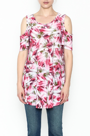 bombom Pink Feather Tunic - Front full body