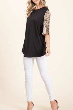 Shoptiques Product: Snakeskin Sleeve Top