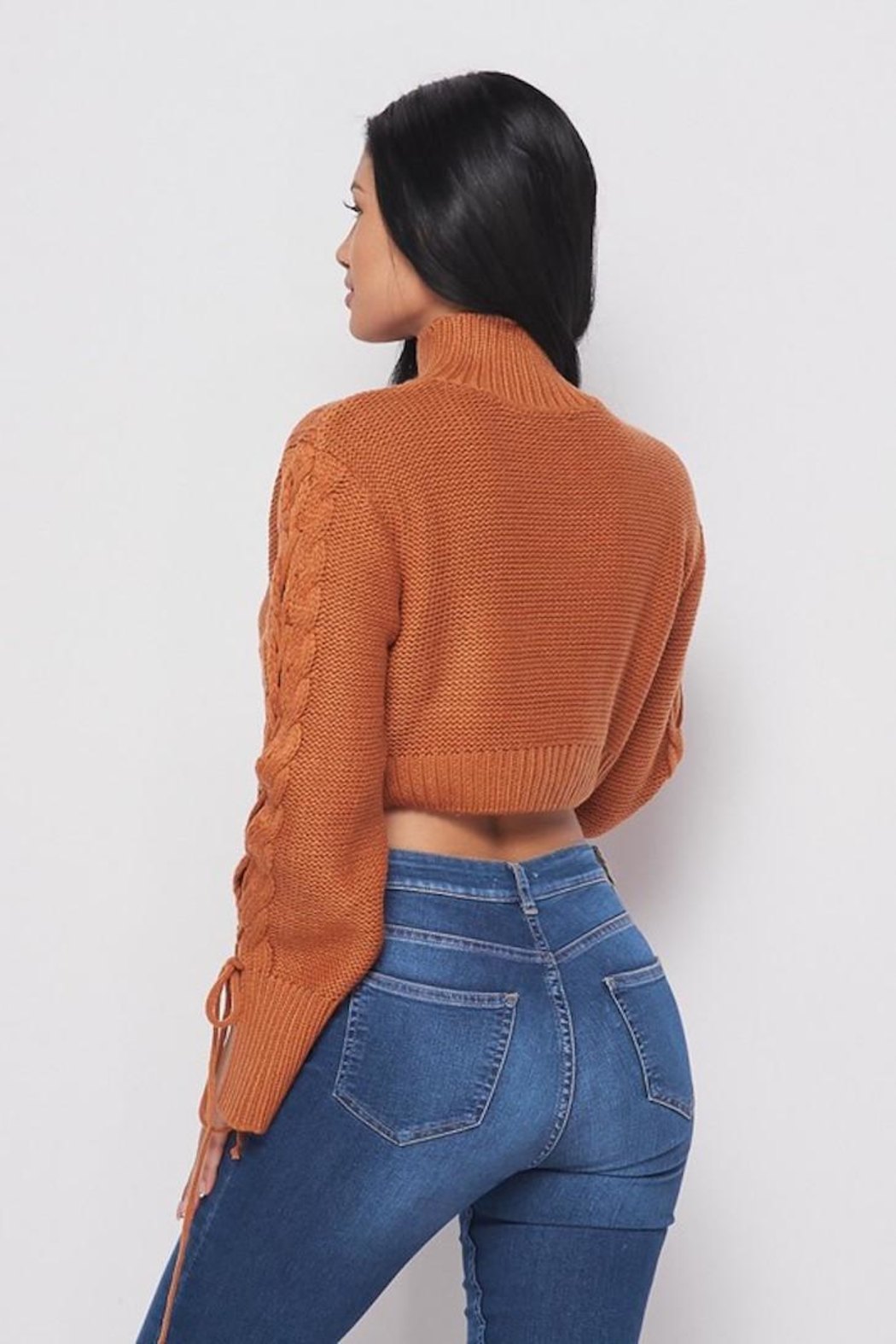 Bonded Cropped Sweater - Side Cropped Image
